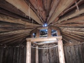 Outbuilding ceiling and chimney